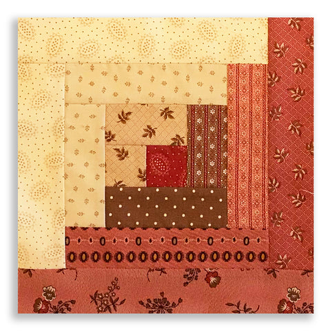 Moda PRE-CUT 12 Block Log Cabin Quilt Kit - Hickory Road