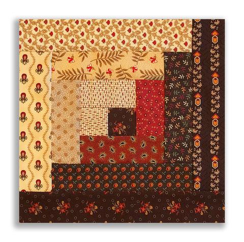Moda Pre-cut 12 Block Log Cabin Quilt Kit - Jo Morton DARK CHOCOLATE