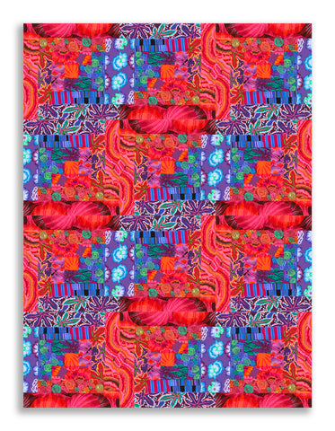 Free Spirit Kaffe Fassett Pre-cut 12 Block Log Cabin Quilt Kit - Kaffe SUNSET