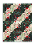 Moda Fabrics PRE-CUT 12 Block Log Cabin Quilt Kit - Kringle Claus Black