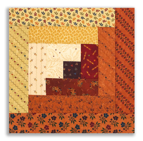 Moda + Henry Glass & Co. PRE-CUT 12 Block Log Cabin Quilt Kit - Kansas Troubles Plus