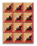 Andover Pre-cut 12 Block Log Cabin Quilt Kit - Riviera Rose