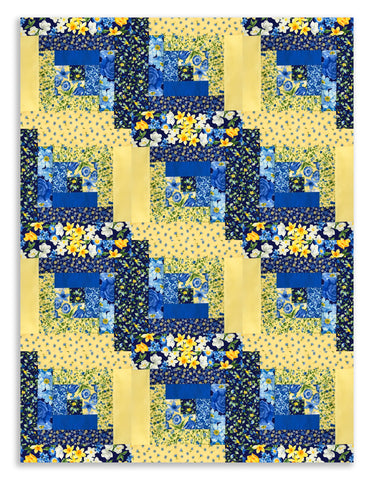 Moda Fabrics PRE-CUT 12 Block Log Cabin Quilt Kit - Summer Breeze 3 - SAMPLE