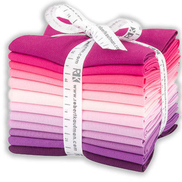 Robert Kaufman Kona Pre-Cuts 12 Fat Quarters - Wildberry 1377-12