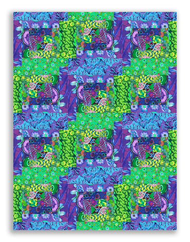 Free Spirit Kaffe Fassett Pre-cut 12 Block Log Cabin Quilt Kit - Kaffe In Bloom