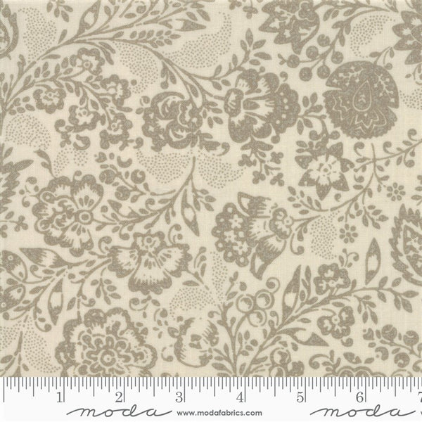 Moda French General Chafarcani 13850 14 Pearl/Roche Fleurs Et Feuilles By The Yard