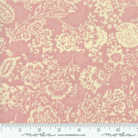 Moda French General Chafarcani 13850 16 Pale Rose Fleurs Et Feuilles By The Yard