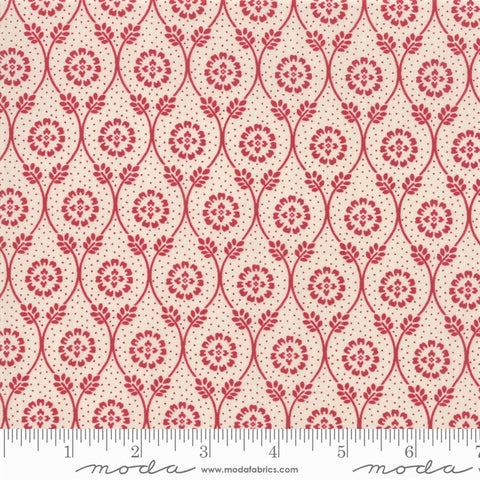 Moda French General Chafarcani 13852 12 Rouge/Pearl Vine Hall By The Yard