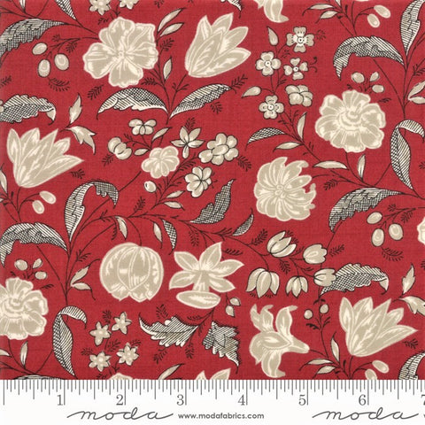 Moda French General Chafarcani 13853 11 Rouge Melodic Floral By The Yard