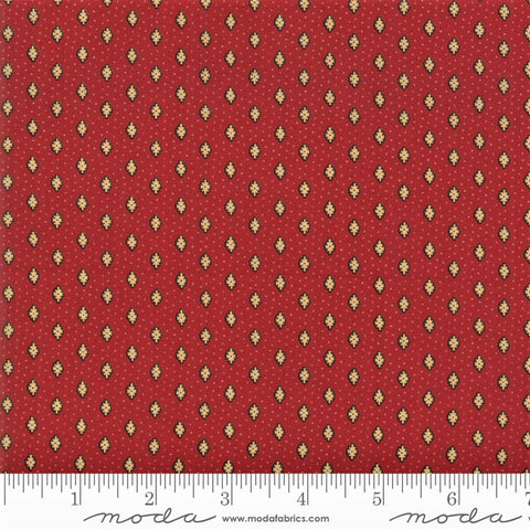 Moda French General Chafarcani 13857 11 Rouge Small Poppy & Dots By The Yard