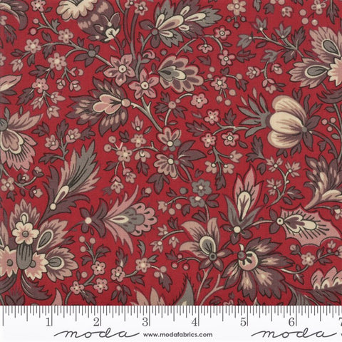 Moda French General Chafarcani 13860 11 Rouge Traditional Floral By The Yard