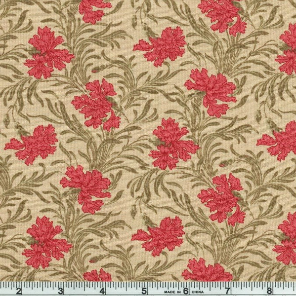 Moda French General Le Beau Papillon 13863 15 Oyster Lysandra Blooms By The Yard