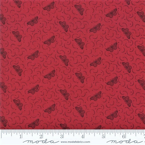 Moda French General Le Beau Papillon 13868 11 Rouge Una Papillon By The Yard
