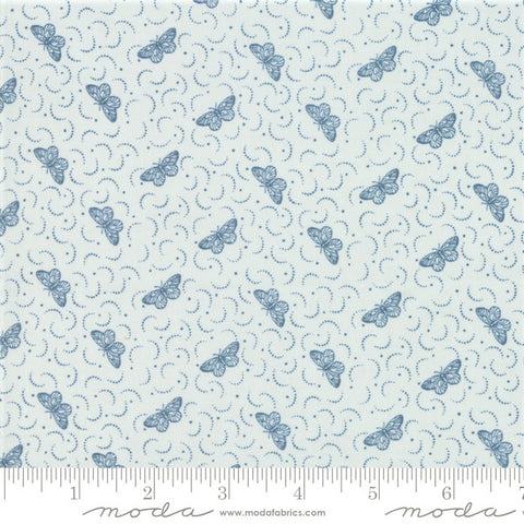 Moda French General Le Beau Papillon 13868 13 Blue Dust Una Papillon By The Yard