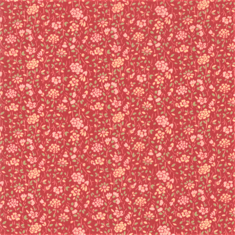 Moda French General Tres Jolie Lawns 13870 13LW Faded Red Tulipe - 1 Yard Cut