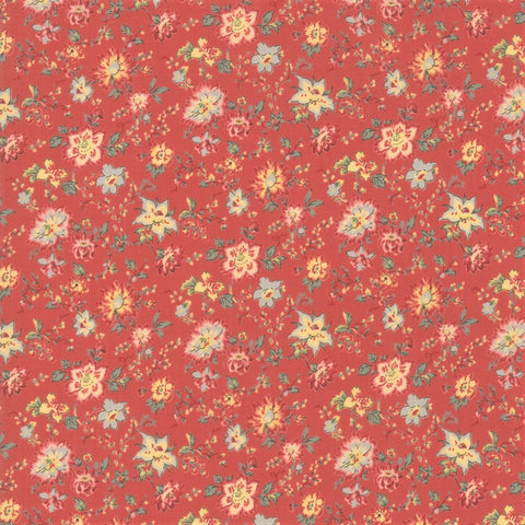 Moda French General Tres Jolie Lawns 13874 14LW Faded Red Tiarella By The Yard