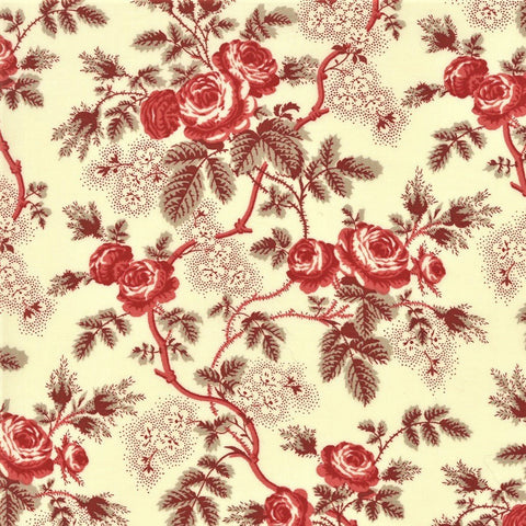 Moda French General La Rose Rouge 13880 13 Pearl Rosina By The Yard