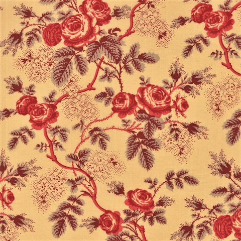 Moda French General La Rose Rouge 13880 14 Oyster Rosina By The Yard