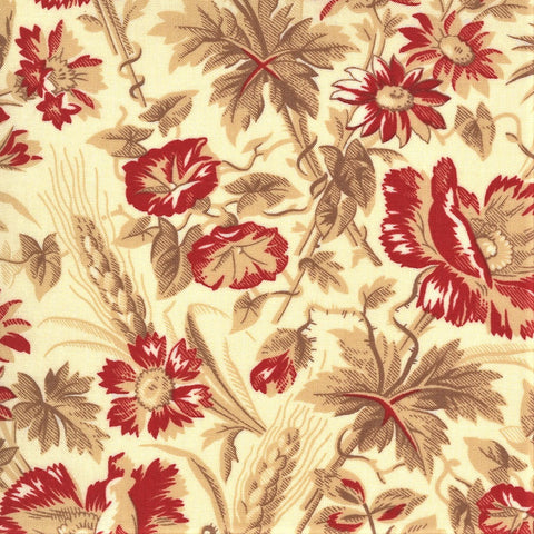 Moda French General La Rose Rouge 13881 15 Pearl Ghislaine By The Yard