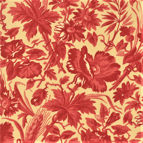Moda French General La Rose Rouge 13881 16 Oyster Ghislaine By The Yard