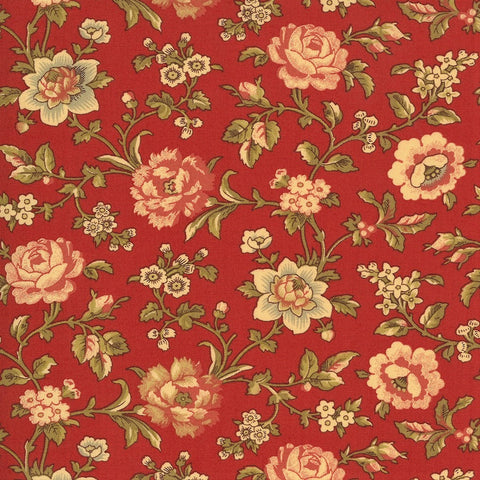 Moda French General La Rose Rouge 13883 11 Rouge Felicite By The Yard