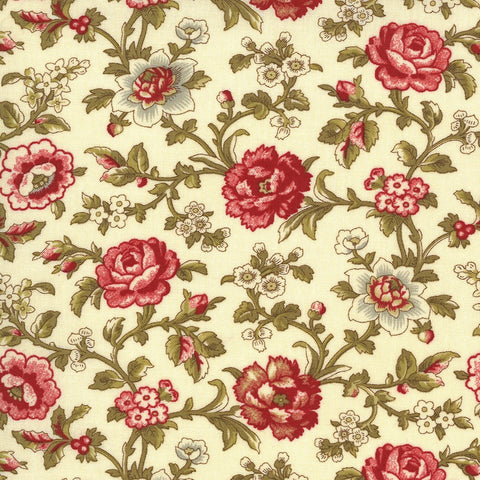 Moda French General La Rose Rouge 13883 13 Pearl Felicite By The Yard