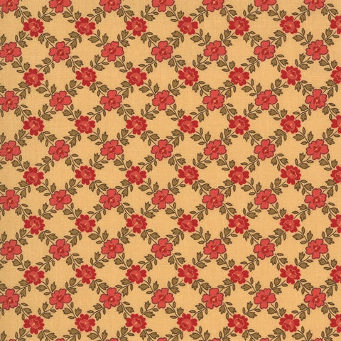 Moda French General La Rose Rouge 13886 14 Oyster Fantin - 1 Yard Cut