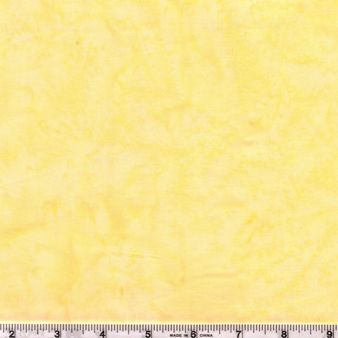 Anthology Batik Lava Basics 1410 01 Popcorn Yellow Watercolor By The Yard