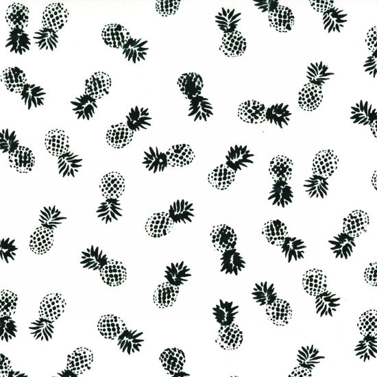 Hoffman Batiks Black & White 142 655 Chalk Pineapple Pleasure By The Yard