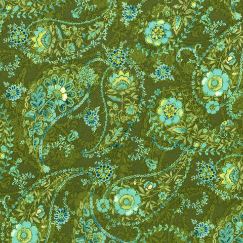 RJR Fabrics Bordeaux Rose 3080 1 Echarpe Olive By The Yard