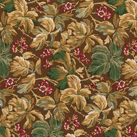 RJR Fabrics River Song 3051 1 Leaf Cluster Chocolate By The Yard