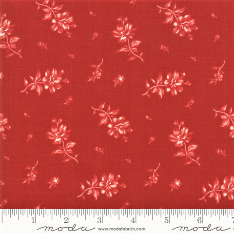 Moda Minick & Simpson Northport Prints 14883 18 Red Floating Flowers By The Yard