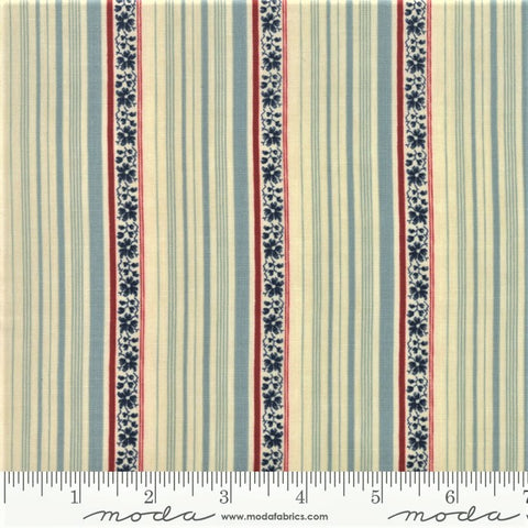 Moda Minick & Simpson Northport Prints 14885 23 Blue Wallpaper Stripe By The Yard
