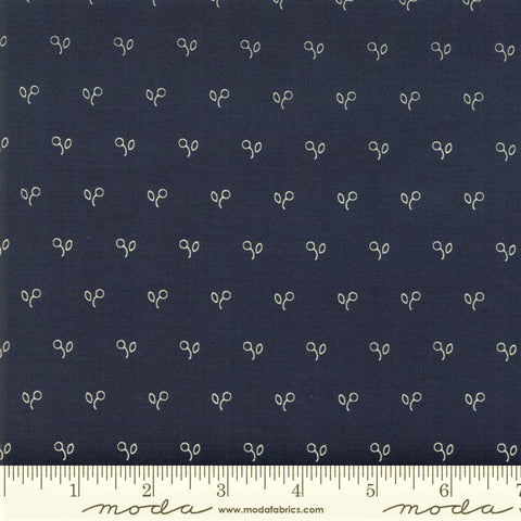 Moda Minick & Simpson Northport Prints 14887 16 Navy Stencil Berries By The Yard