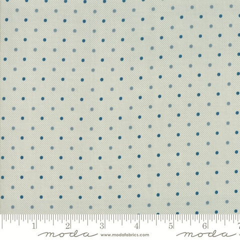 Moda Minick & Simpson Northport Prints 14888 12 Cream Blue Traditional Dots By The Yard