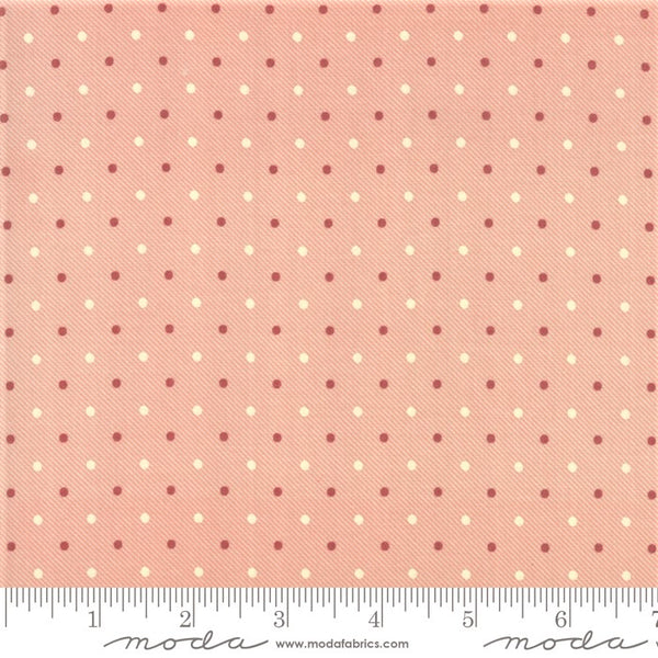 Moda Minick & Simpson Northport Prints 14888 13 Cream Red Traditional Dots By The Yard