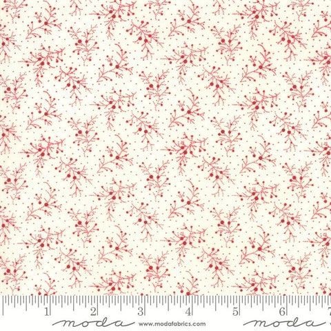 Moda Minick & Simpson Mackinac Island 14894 13 Cream Red Berries By The Yard