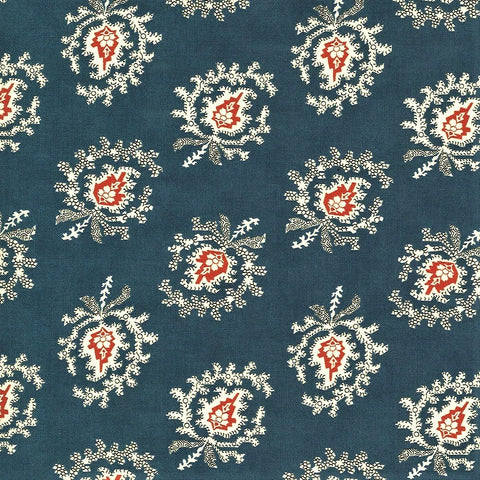 Moda Minick & Simpson Harbor Springs 14901 13 Medium Blue Indienne Paisley By The Yard