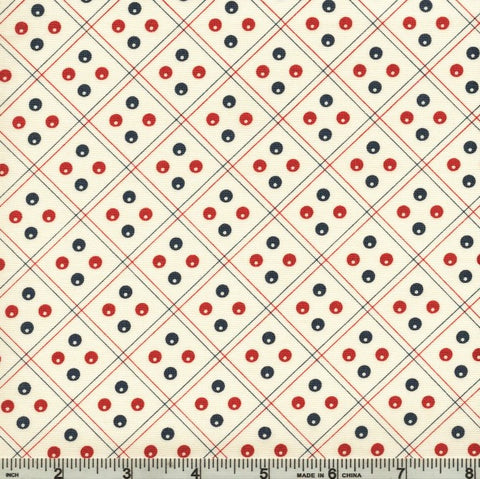 Moda Minick & Simpson Harbor Springs 14903 11 Cream Polka Dot Variation By The Yard