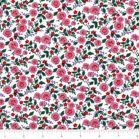 RJR Fabrics Everything But The Kitchen Sink 1977 1 Pink All Over Floral By  The Yard