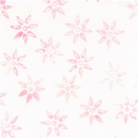 Anthology Batik Mary Inman 15221 Light Pink Star Flower By The Yard