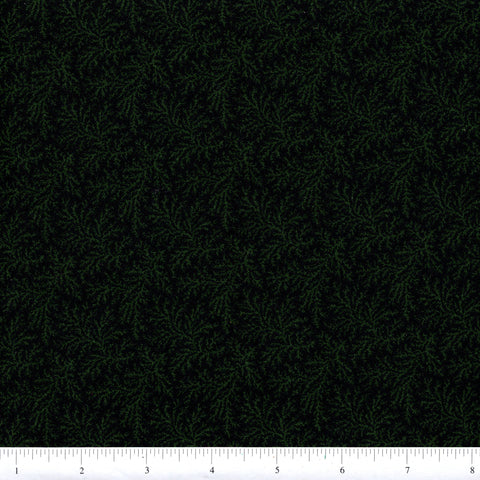 RJR Fabrics Thimbleberries Winter Pines 1568 2 Green Branches On Navy By The Yard
