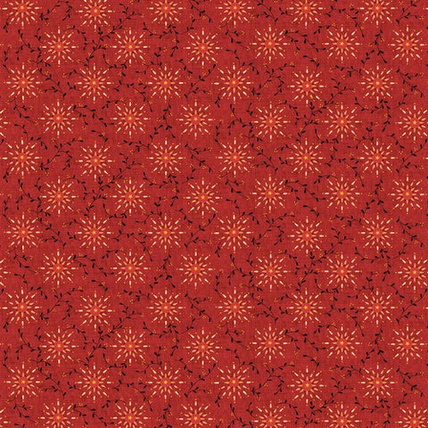 Henry Glass & Co. Liberty Star 1570 88 Deep Red Starburst by the yard