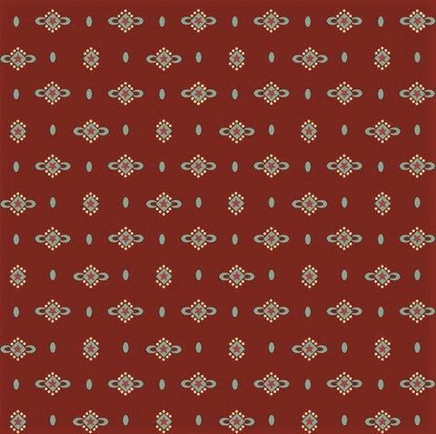 Henry Glass & Co. Liberty Star 1574 88 Deep Red Shirting Stars by the yard