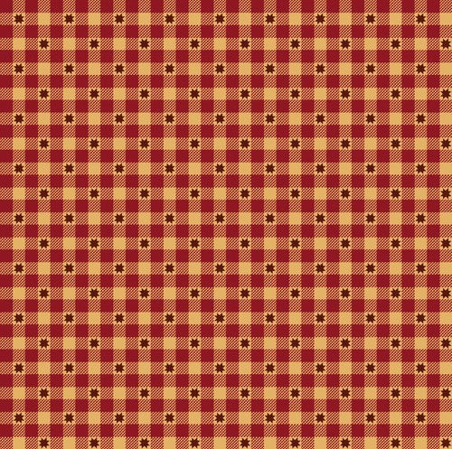 Henry Glass & Co. Liberty Star 1576 88 Deep Red Gingham Stars by the yard