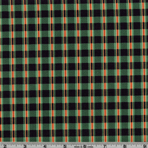 RJR Fabrics Take The Bait 1603 2 Riley's Green Plaid By The Yard