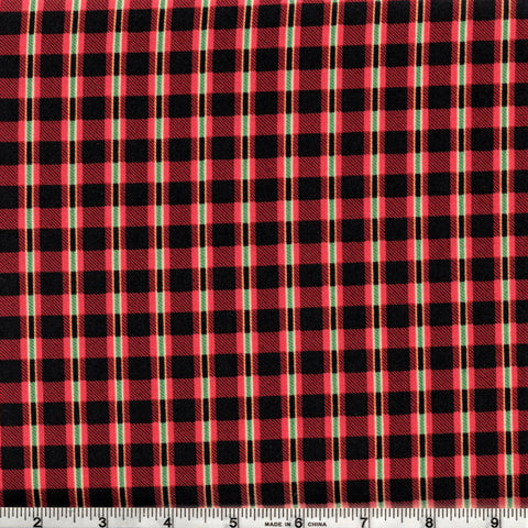 RJR Fabrics Take The Bait 1603 3 Riley's Red Plaid By The Yard