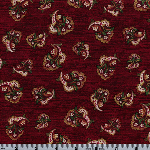RJR Fabrics Briarcliff 1667 2 Mini Bouquet On Berry By The Yard