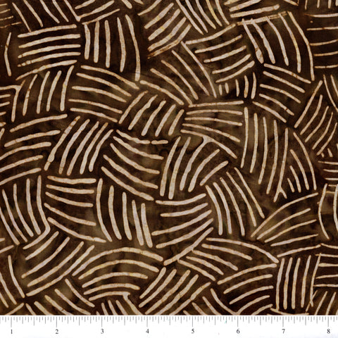 Anthology Batik 16703 Scratches On Brown By The Yard