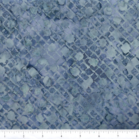 Anthology Batik 16714 Abstract Storm Grey Diamond Grid By The Yard